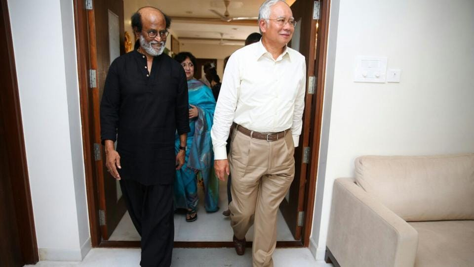 Rajinikanth,Malaysian PM Mohammad N Razak,Thalaivar