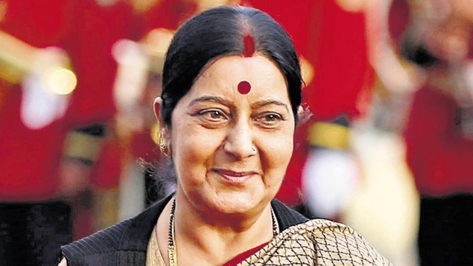 Foreign minister Sushma Swaraj.
