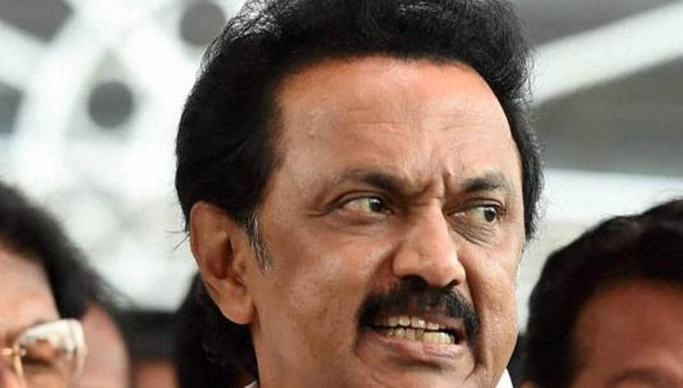 DMK leader MK Stalin says his party will start protests if Hindi is 'imposed' on Tamil Nadu.