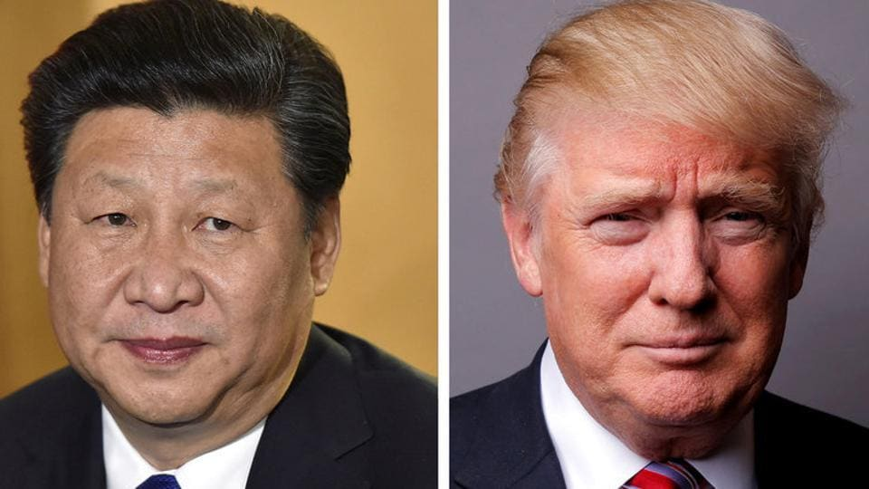 A combination of file photos showing Chinese President Xi Jinping (left) and US President Donald Trump