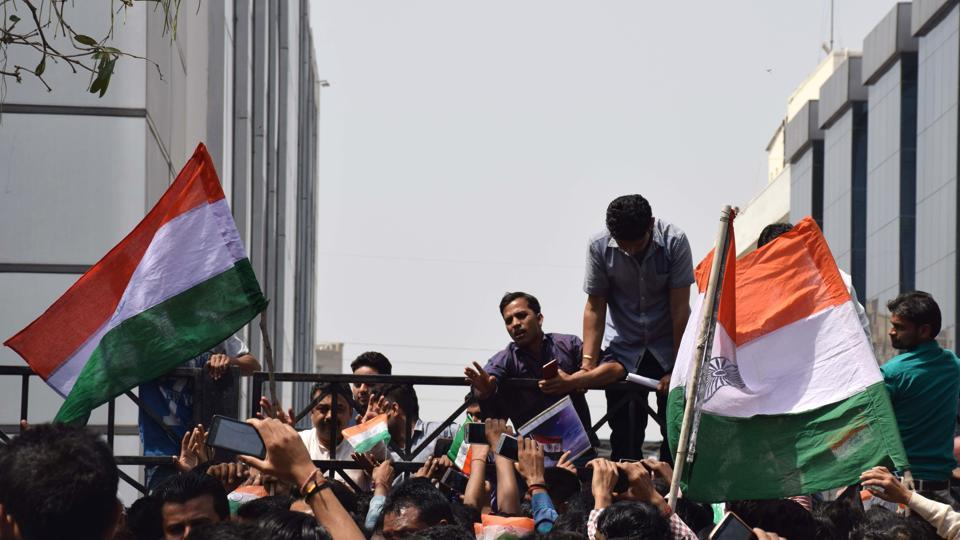 Oppo's Noida unit was shut on Tuesday after hundreds of employees staged a protest and demanded action against a Chinese national who had allegedly torn an Indian flag and thrown it in a dustbin.