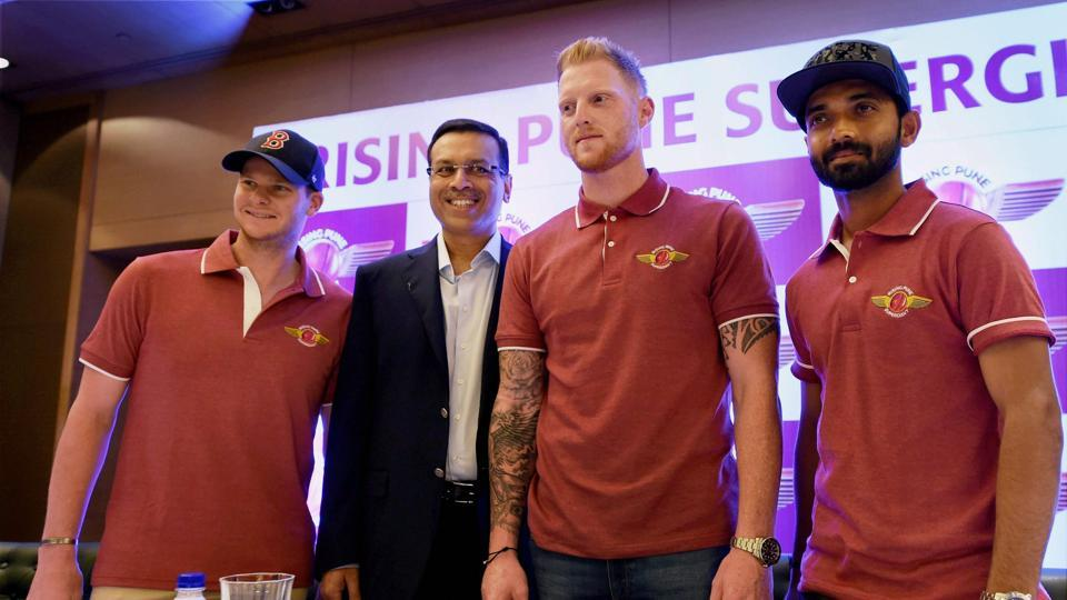 England all-rounder Ben Stokes (second from right) is a new addition to RPS' squad this year. (PTI)