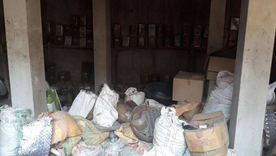 Stockpile of unnamed Ayurvedic medicines and capsules have been found at  a farm house  of the additional chief medical officer.
