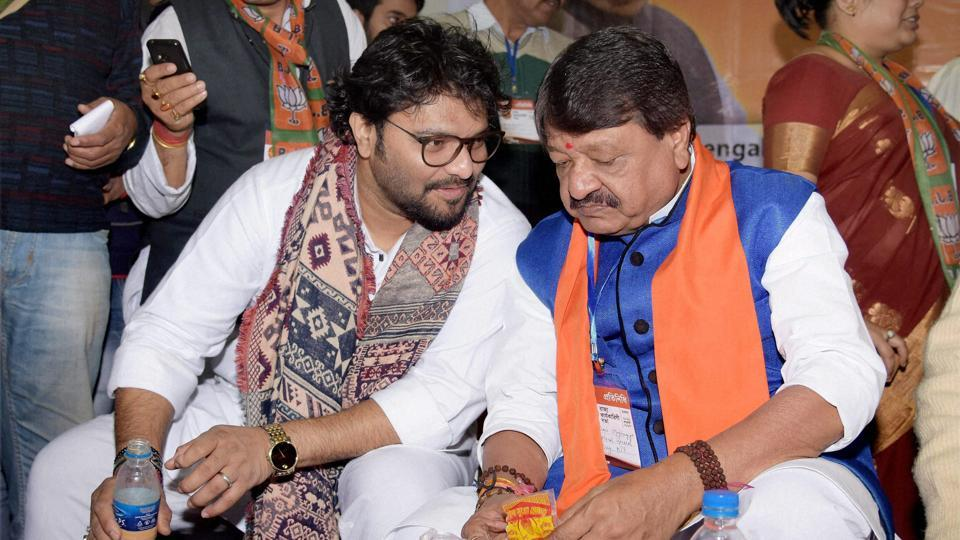Union minister Babul Supriyo (left), seen here with BJP leader Kailash Vijayvargiya, said the ruling BJP in Uttar Pradesh was not against slaughterhouses but was acting only against illegal ones.