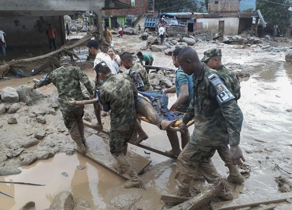 President Juan Manuel Santos said troops had been deployed as part of a national emergency response.