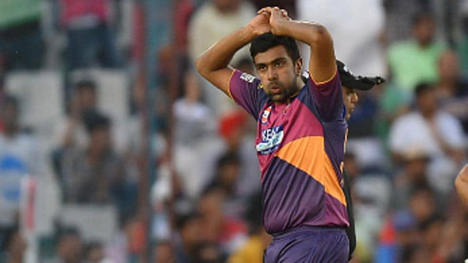 Ravichandran Ashwin of Rising Pune Supergiant was ruled out of the tournament on Friday due to sports hernia. (AFP/Getty Images)