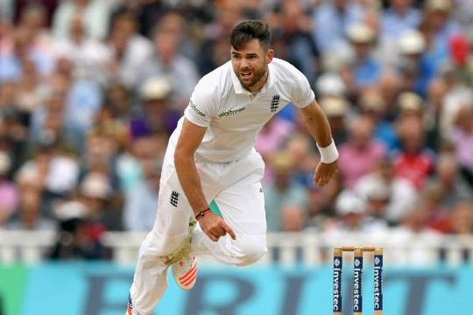James Anderson picked up a groin injury hen playing for Lancashire in the county championship.