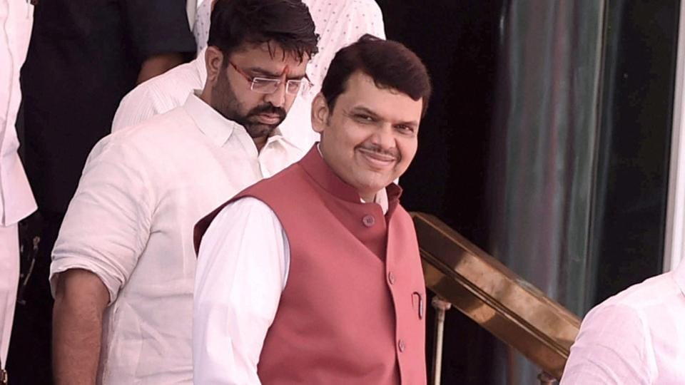 Maharashtra chief cinister Devendra Fadnavis on the first day of the Maharashtra Assembly's Budget Session in Mumbai.
