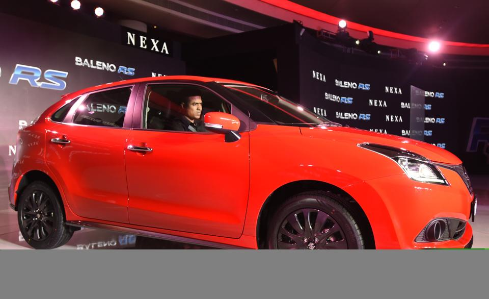 Newly launch Baleno RS- Road Sport in New Delhi.