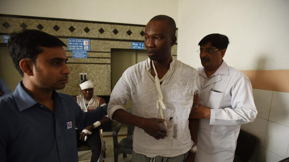 At least nine Africans were injured in the attacks on March 27 inGreater Noida near Pari Chowk.