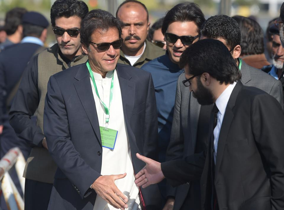 This was the first meeting between Imran Khan (in pic) and the army chief since Bajwa took command of the Pakistan Army.