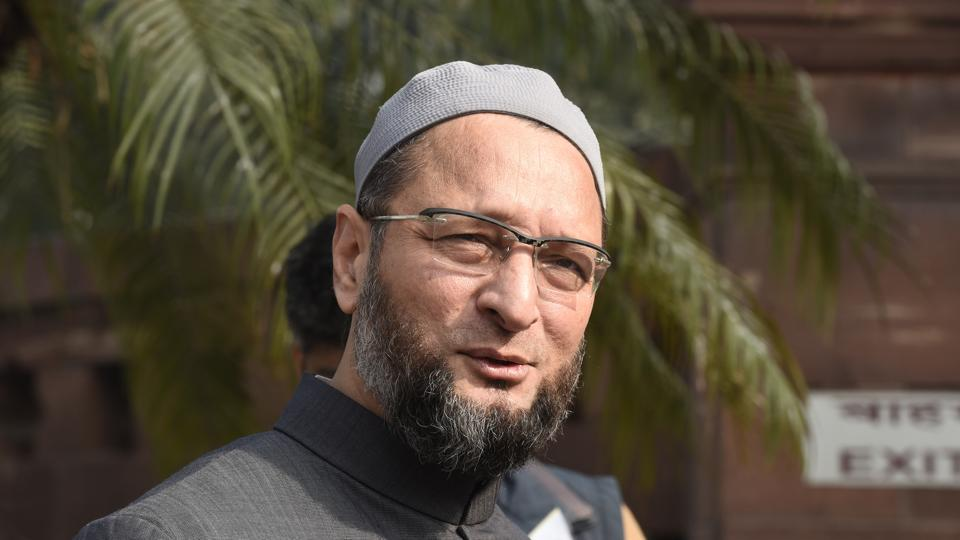 AIMIM president during the Winter Session of the Parliament in New Delhi on Wednesday.