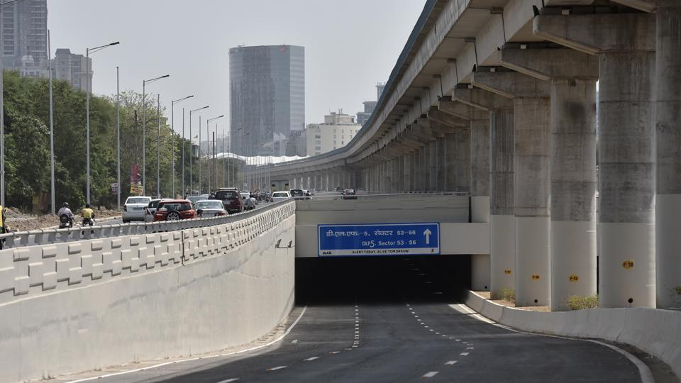 The new six-lane underpass (three on each side) will benefit commuters travelling towards or from Golf Course Extension Road and those living in DLF Phase 5.