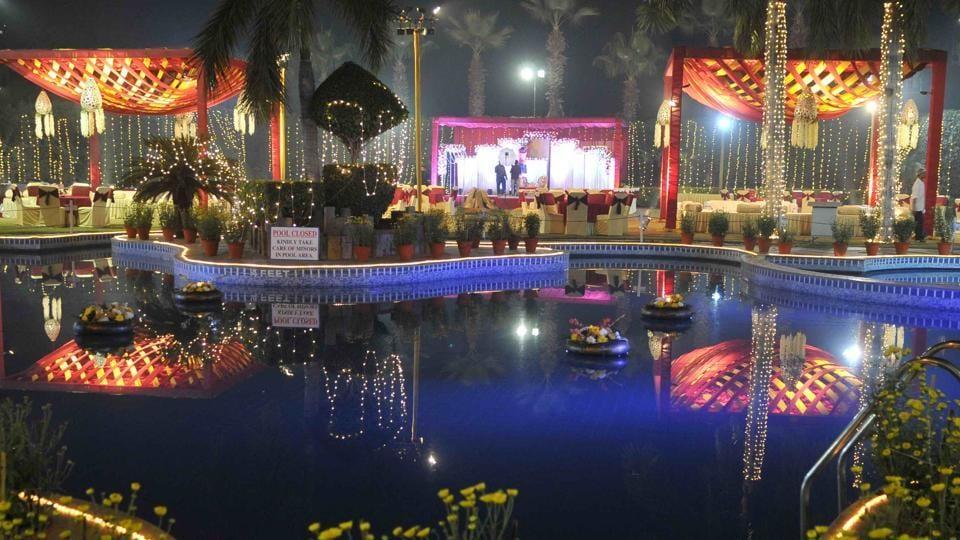A marriage palace in SAS Nagar.