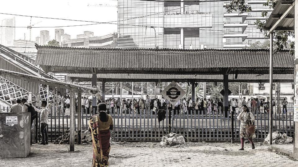 A glimpse of  Parel railway station