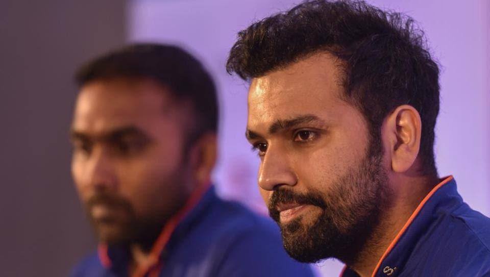 Rohit Sharma addressing the media in Mumbai ahead of Indian Premier League 2017.