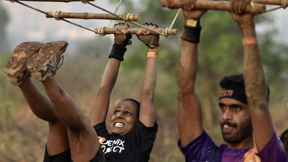 In a new avatar the obstacle race was rechristened The Phoenix Project and the first obstacle race was held in Delhi in December 2016.  (Arijit Sen/HT Photo)