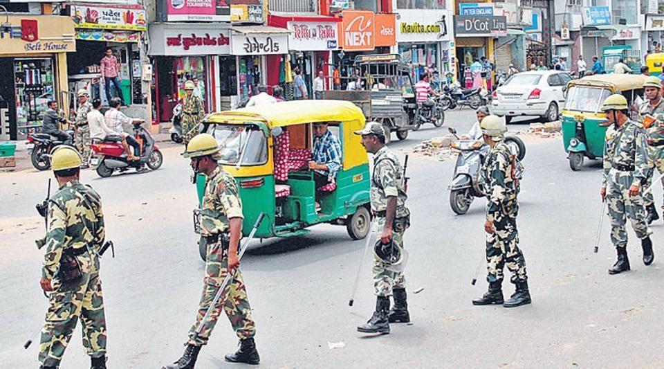 CRPF personnel in Ahmedabad.