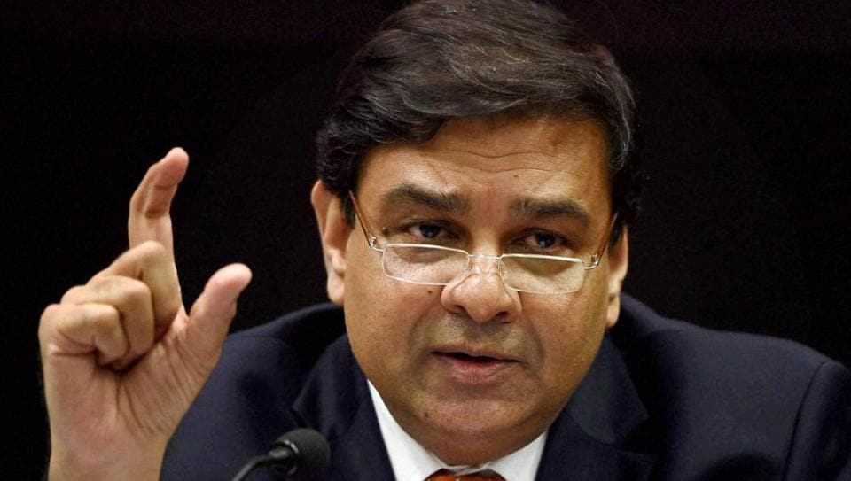 RBI governor Urjit Patel addresses a press conference in Mumbai.
