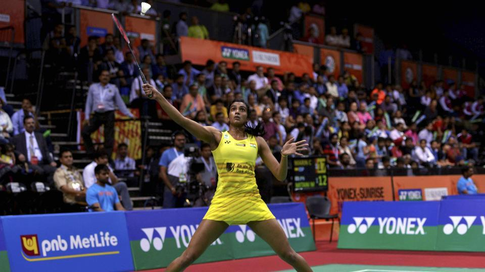 PV Sindhu won the India Open after beating Carolina Marin 21-19, 21-16 in the final. (PTI)