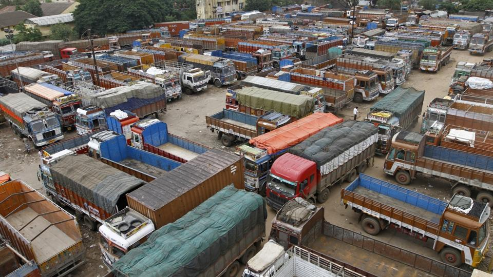 More than 5 lakh trucks remained off the roads in Telangana and Andhra Pradesh, paralysing the movement of goods.