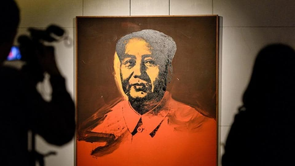 Andy Warhol,Andy Warhol Mao portrait,Andy Warhol Mao portrait auction price