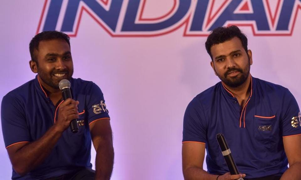 "Mumbai Indians' new coach Mahela Jayawardene  was looking forward to work with Rohit Sharma this IPL season.  ""I think Rohit is a very instinctive player, naturally gifted. He just goes with the flow and he creates his opportunities and I think that suits quite well when you are a T20 captain,"" he said. (Kunal Patil/HT Photo)"