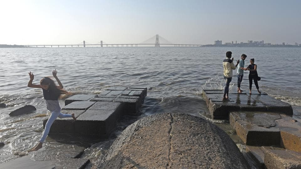 The seas near Mumbai (in pic), Kerala and the Andaman and Nicobar Islands are among the most polluted in the world, a global study that mapped marine pollution around the world has found.  (Pratik Chorge/HT Photo)