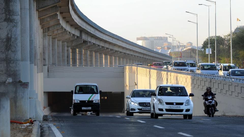The 1.2-km-long underpass was opened on Sunday.