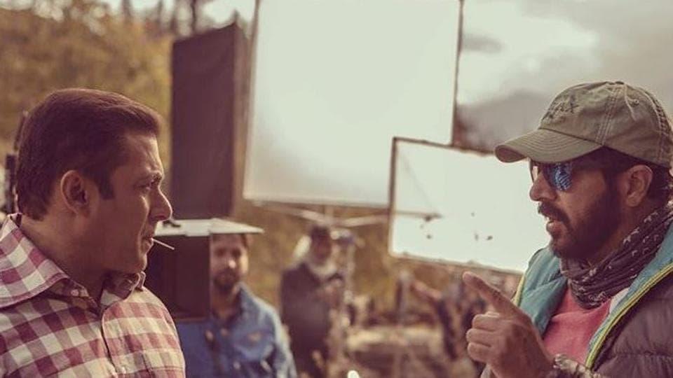 Salman Khan and Kabir Khan on Tubelight sets.