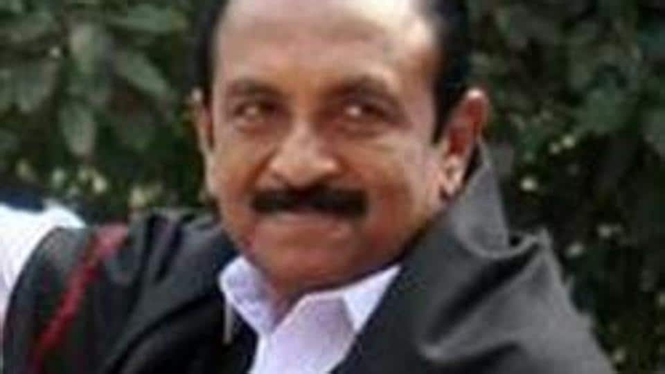 MDMK chief Vaiko was sentenced to 15 days in judicial custody in a sedition case registered in 2009.