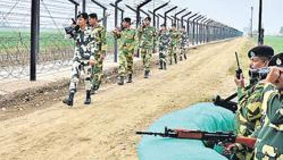 Pakistani army initiated indiscriminate firing of small arms, automatics and mortars at 9.30 am on Monday, prompting Indian Army to retaliate with full force.