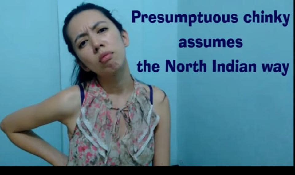A still from the video by Nagaland girl Merenla Imsong.