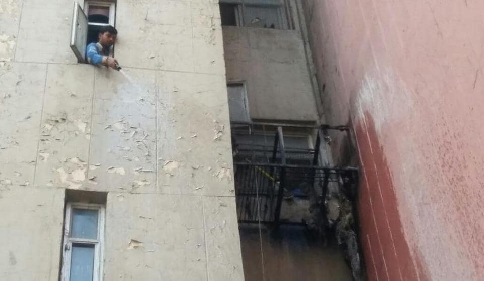 The fire started from a pile of garbage dumped on the stairs on the fifth floor ofJeevan Prakash building located on Kasturba Gandhi Marg in central Delhi.