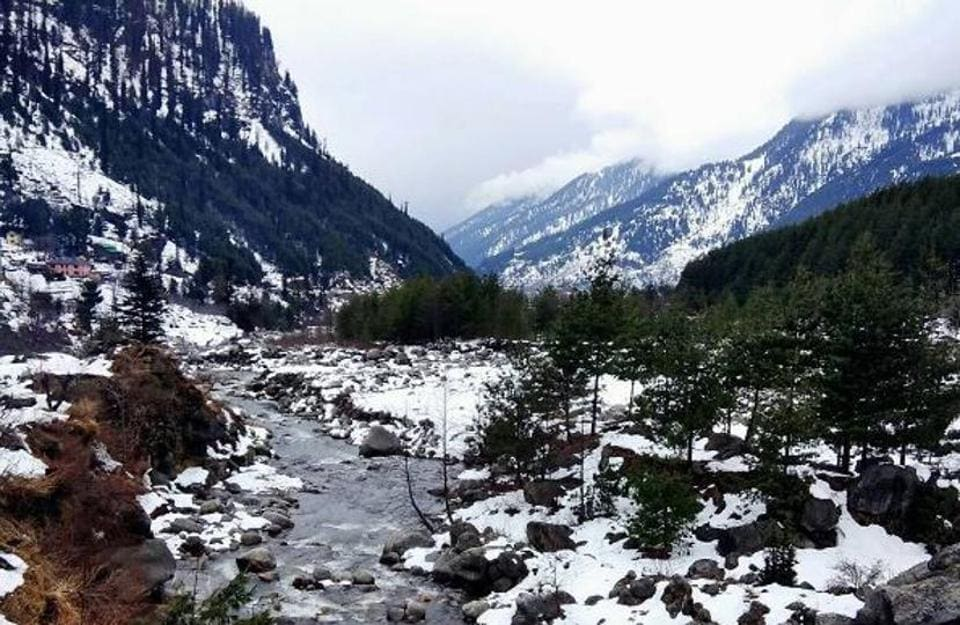 A view of Beas river on the way to Solang Valley.