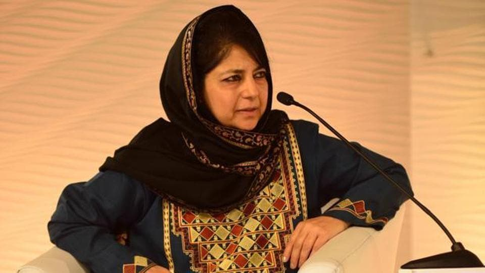 Jammu and Kashmir Chief Minister Mehbooba Mufti on Tuesday asked Pakistan to stop backing militancy in the state and enable restoration of peace so that a dialogue process could begin.