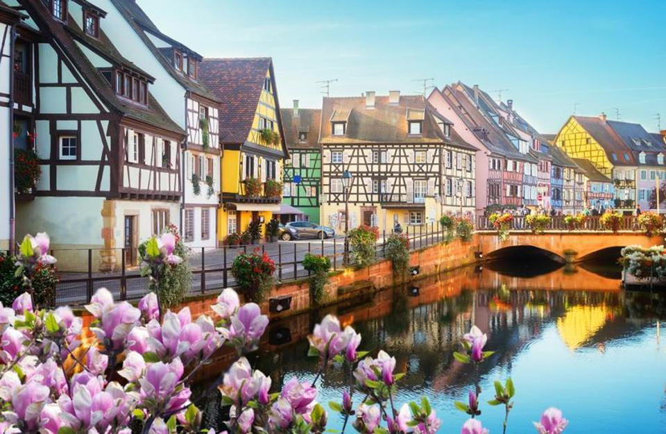 The town of Colmar in the Alsace region of France.