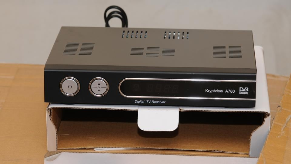 Set-top box seized during investigation by Leicestershire Police into the multi-million pound fraud that allowed thousands of people in Britain to watch subscription television for free.