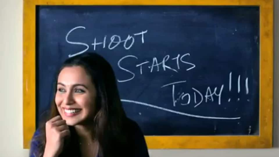 Rani Mukerji's upcoming Hichki shoot begins today