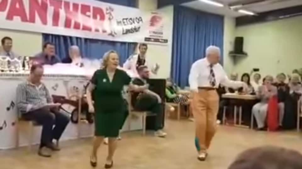 Dietmar Ehrentraut and his wife Nellia are the winners of many dance competitions.