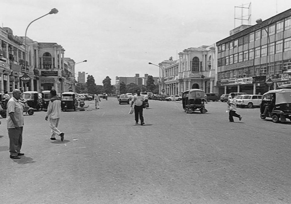 Connaught Place viewed from one of the arterial roads leading into the Inner Circle. (HT Photo)