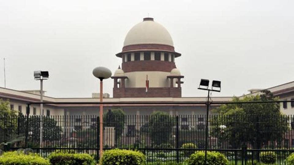 Supreme Court building in New Delhi.