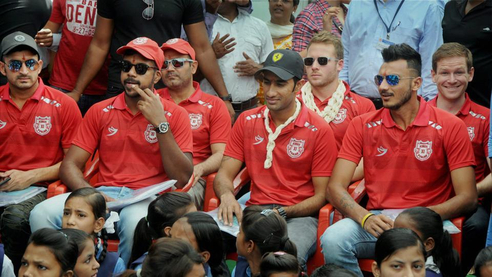 Kings XIPunjab players inaugurated toilets at a government school in Indore ahead of the 2017 Indian Premier League. (PTI)