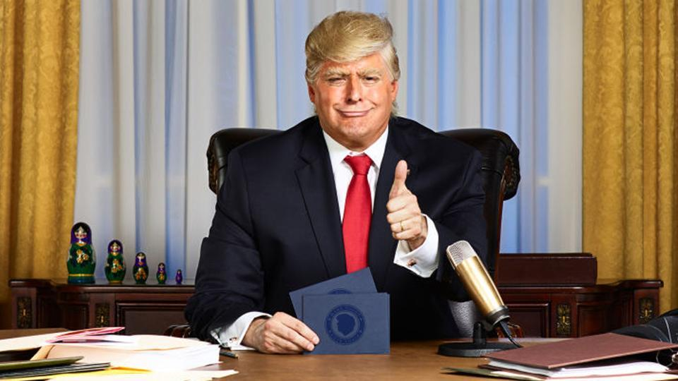 Anthony Atamanuik, impersonating as President Donald Trump, will host The President Show on Comedy Central each Thursday starting April 27.