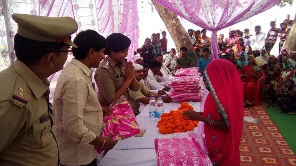 The cops have provided pink coloured sarees each to the members and have also trained them in ways to maintain law and order.