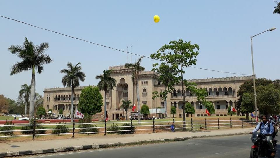 The festive mood, which should have been visible by now, is glaringly missing on the campus, except for an arch near the administrative building and a flattened balloon on the Arts College building.