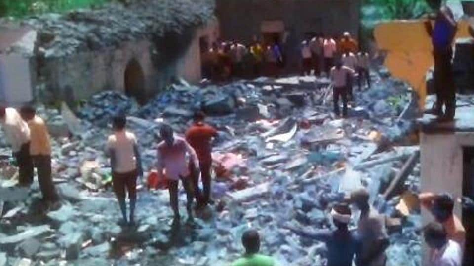 An explosion took place in an illegal factory in Madhya Pradesh's Datia.