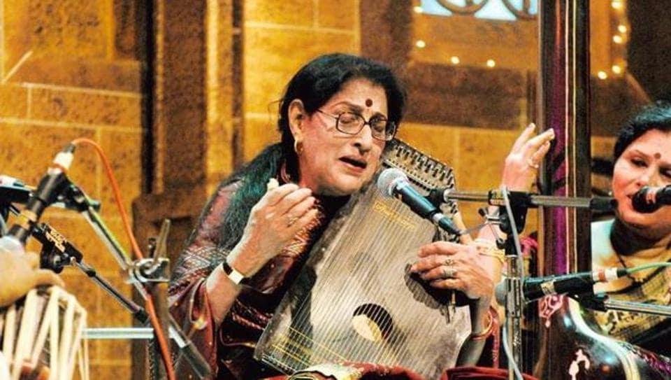 Hindustani classical singer Kishori Amonkar. (Photo: Kalpak Pathak/HT)