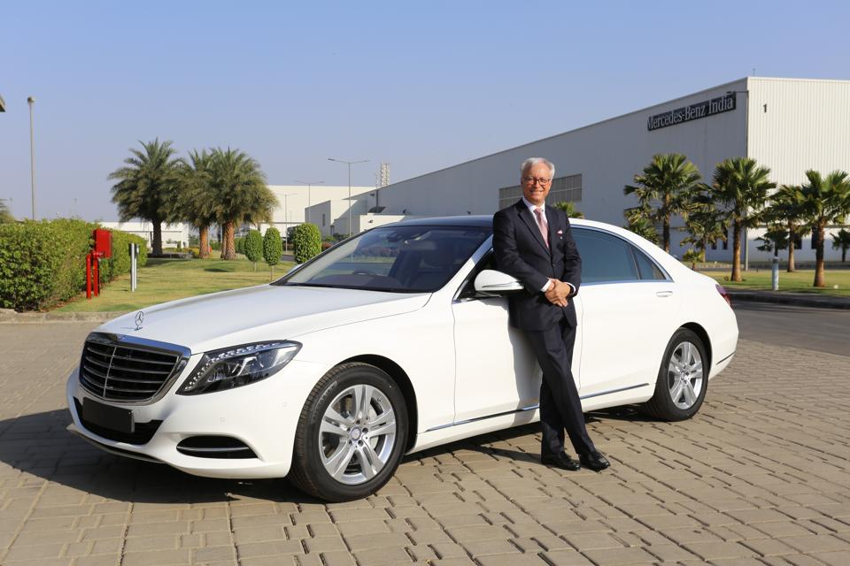 Roland Folger, managing director and CEO, Mercedes-Benz India, launching the new S-Class Connoisseur's Edition on Wednesday.
