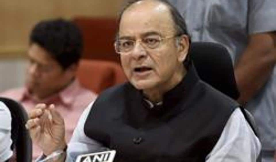 Finance Minister Arun Jaitley addresses a press conference after chairing the 13th GST Council Meeting at Vigyan Bhawan in New Delhi.
